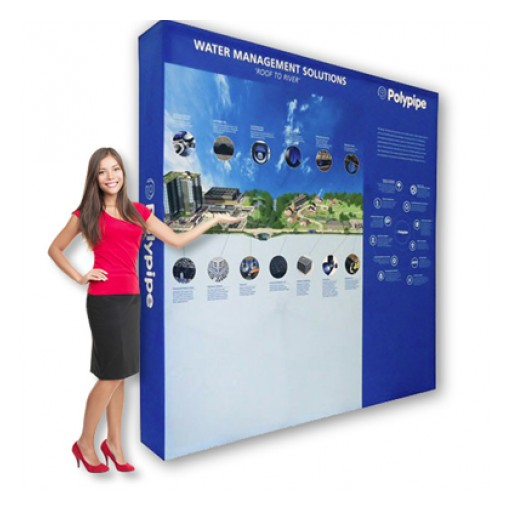 Hopup Backdrop Displays From Sunrise Hitek Are the Perfect Trade Show Signage Solution
